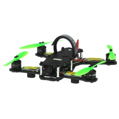 TAROT 130 TL130H1 Mini Real-time Transmission Racing Drone with Brushless MotorMotor<br>TAROT 130 TL130H1 Mini Real-time Transmission Racing Drone with Brushless Motor<br><br>Type: Frame Kit,Quadcopter,Racing Quadcopter<br>Features: 5.8G FPV,Radio Control<br>Motor Type: Brushless Motor<br>Functions: Forward/backward,FPV,Turn left/right,Up/down<br>Material: Carbon Fiber,Electronic Components<br>Kit Types: PNP<br>Level: Advanced Level<br>Remote Control: Radio Control<br>Channel: No Transmitter<br>Mode: No Transmitter<br>Detailed Control Distance: Unknown<br>Model Power: 1 x Lithium battery(not included)<br>Battery: 11.1V 35C 450mAh  ( Not Included )<br>Video Resolution: 520TLV<br>Video Standards: NTSC<br>Product weight: 0.085 kg<br>Package weight: 0.220 kg<br>Product size (L x W x H): 19.90 x 18.60 x 2.80 cm / 7.83 x 7.32 x 1.1 inches<br>Package size (L x W x H): 20.00 x 20.00 x 4.00 cm / 7.87 x 7.87 x 1.57 inches<br>Package Contents: 1 x FPV Drone Set, 1 x Battery Tie, 1 x Battery Magic Sticker, 1 x Manual ( English + Chinese )