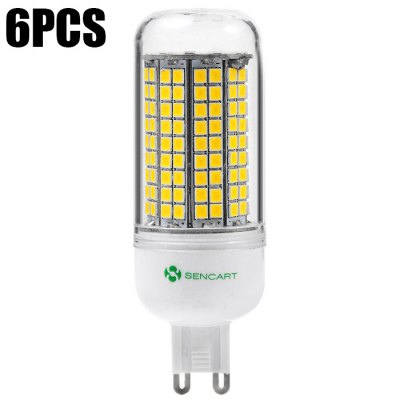 6PCS Sencart 180 x SMD2835 G9 15W 1500LM LED Corn Light