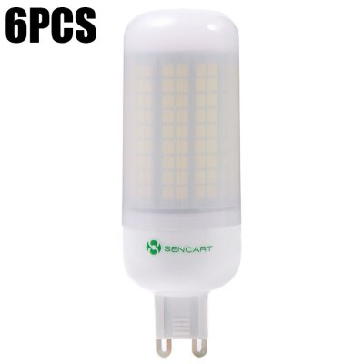 6 x Sencart 15W 1500LM G9 180 SMD2835 Frosted LED Corn Lamp