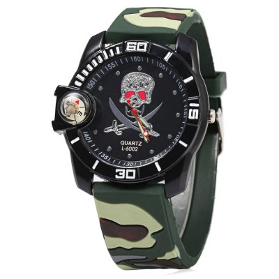 Camouflage Male Quartz Watch with Compass
