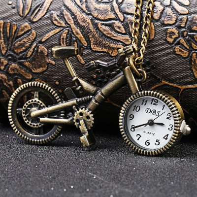 Bicycle Shaped Quartz Pocket Watch