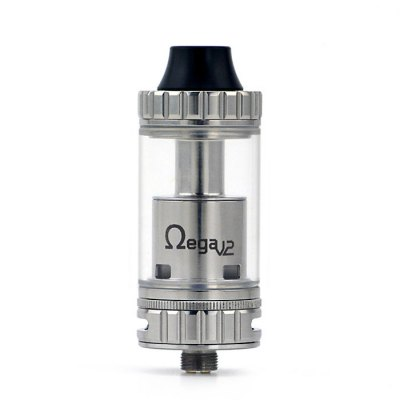 Original ADVKEN Ohmega V2 RTA AtomizerRebuildable Atomizers<br>Original ADVKEN Ohmega V2 RTA Atomizer<br><br>Available Color: Silver<br>Brand: ADVKEN<br>Coil Quantity: Dual coil<br>Material: Glass, Stainless Steel<br>Model: Ohmega V2<br>Overall Diameter: 22mm<br>Package Contents: 1 x Ohmega V2 RTA Atomizer, 1 x Replacement Glass Tank, 1 x Decorative Ring, 1 x 510 Drip Tip Adapter, 1 x Spare Parts Bag<br>Package size (L x W x H): 7.00 x 3.50 x 8.50 cm / 2.76 x 1.38 x 3.35 inches<br>Package weight: 0.140 kg<br>Product size (L x W x H): 2.20 x 2.20 x 5.90 cm / 0.87 x 0.87 x 2.32 inches<br>Product weight: 0.055 kg<br>Rebuildable Atomizer: RBA,RTA<br>Tank Capacity: 4.5ml<br>Thread: 510<br>Type: Rebuildable Tanks, Rebuildable Atomizer