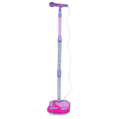 244 Joyful Microphone Toy with Stand / LED Light Educational Toy Height Adjustable