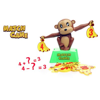 Monkey Banana Match Game Balance Scale Kid Educational Toy for ChildrenNovelty Toys<br>Monkey Banana Match Game Balance Scale Kid Educational Toy for Children<br><br>Age: 1 Years+<br>Applicable gender: Unisex<br>Design Style: Animal<br>Features: Educational<br>Material: Plastic<br>Package Contents: 1 x Monkey Balance Scale, 15 x Banana, 1 x English Manual<br>Package size (L x W x H): 26.50 x 26.50 x 8.50 cm / 10.43 x 10.43 x 3.35 inches<br>Package weight: 0.300 kg<br>Product Model: Monkey Banana Balance Scale<br>Product size (L x W x H): 25.00 x 25.00 x 7.00 cm / 9.84 x 9.84 x 2.76 inches<br>Small Parts : Yes<br>Type: Intelligence toys<br>Washing: No