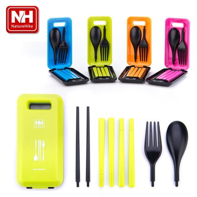 Naturehike - NH Tableware SetCamp Kitchen<br>Naturehike - NH Tableware Set<br><br>Best Use: Camping<br>Brand: NatureHike<br>Features: Compact size, Easy to use, Portable<br>Package Contents: 1 x Spoon, 1 x Pair of Chopsticks, 1 x Fork, 1 x Box<br>Package Dimension: 13.00 x 7.00 x 5.00 cm / 5.12 x 2.76 x 1.97 inches<br>Package weight: 0.120 kg<br>Product Dimension: 12.00 x 5.80 x 2.20 cm / 4.72 x 2.28 x 0.87 inches<br>Product weight: 0.061 kg
