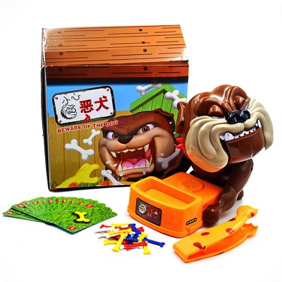 Novelty Tricky Beware Of The Dog Family Interactive Lucky Game Toy
