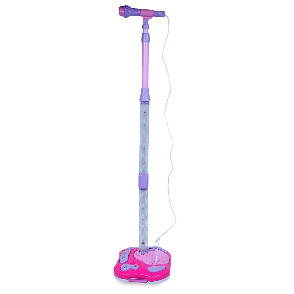 244 Joyful Microphone Toy with Stand - LED Light Educational Toy Height Adjustable