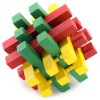 Classic Strip Shape Unlock Puzzle Toy Wooden Three-dimensional Jigsaw