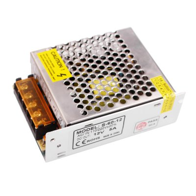100 - 240 to AC / DC 12V 5A 60W Constant Voltage Switching Power Supply Converter