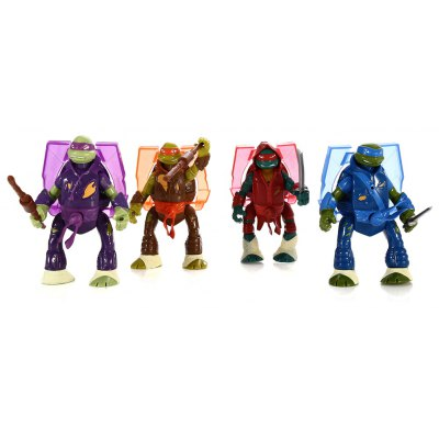 4Pcs PVC Movie Action Figure Movable Joint Cartoon Decor with Chest Light - 5.5 inch