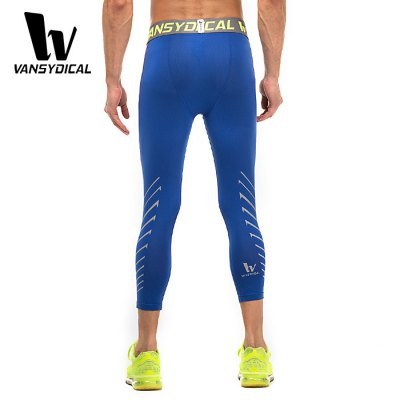 vansydical Male Exercise Elastic Compression Capri PantsWeight Lifting Clothes<br>vansydical Male Exercise Elastic Compression Capri Pants<br><br>Brand: Vansydical<br>Types: Pants<br>Size: L,M,XL<br>Features: Breathable,High elasticity,Quick Dry<br>Gender: Men<br>Material: Lycra<br>Color: Black,Blue,Green<br>Product weight: 0.200 kg<br>Package weight: 0.290 kg<br>Package size: 20.00 x 20.00 x 3.50 cm / 7.87 x 7.87 x 1.38 inches<br>Package Content: 1 x Vancydical Pants