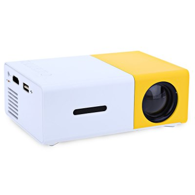 YG - 300 LCD ProjectorProjectors<br>YG - 300 LCD Projector<br><br>Model: YG-300<br>Display type: LCD<br>Native Resolution: 320 x 240<br>Resolution Support: 1920 x 1080<br>Brightness: 400 - 600 Lumens<br>Contrast Ratio: 800:1<br>Lamp: LED<br>Interface: 3.5mm Audio,HDMI,TF Card Slot,USB<br>Power Supply: 12V<br>Certificate: CE,FCC,RoHs<br>Color: Yellow<br>Product weight: 0.245 kg<br>Package weight: 0.610 kg<br>Product size (L x W x H): 12.50 x 8.50 x 4.50 cm / 4.92 x 3.35 x 1.77 inches<br>Package size (L x W x H): 19.50 x 17.50 x 8.00 cm / 7.68 x 6.89 x 3.15 inches<br>Package Contents: 1 x YG - 300 LCD Projector, 1 x Remote Control, 1 x AV Cable, 1 x English Instruction Manual