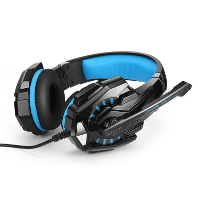 KOTION EACH GS900 Headband Gaming Headsets with MicrophoneGaming Headphones<br>KOTION EACH GS900 Headband Gaming Headsets with Microphone<br><br>Application: Portable Media Player, Computer<br>Brand: KOTION EACH<br>Color: Blue,Red<br>Compatible with: Xbox one<br>Connectivity: Wired<br>Driver unit: 40mm<br>Frequency response: 20-20000Hz<br>Function: Voice control, Answering Phone, Microphone, Noise Cancelling<br>Impedance: 32ohms<br>Micphone Sensitivity: -38dB±5dB<br>Microphone dimension: 6.0 x 5.0mm<br>Microphone impedance : 2.2Kohms<br>Model: GS900<br>Package Contents: 1 x Headsets, 1 x USB Audio Cable ( 2.8m ), 1 x RCA Audio Convert Cable ( 1.65m ), 1 x 2.5mm Audio Cable, 1 x 3.5mm Audio Cable, 1 x English User Manual<br>Package size (L x W x H): 20.00 x 9.50 x 22.00 cm / 7.87 x 3.74 x 8.66 inches<br>Package weight: 0.650 kg<br>Plug Type: USB, 2.5mm, 3.5mm, Full-sized<br>Product size (L x W x H): 18.50 x 8.50 x 20.50 cm / 7.28 x 3.35 x 8.07 inches<br>Product weight: 0.280 kg<br>Sensitivity: 108 dB ± 3dB<br>Wearing type: Headband