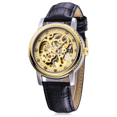 FLENT b086 Men Hollow-out Automatic Mechanical Watch