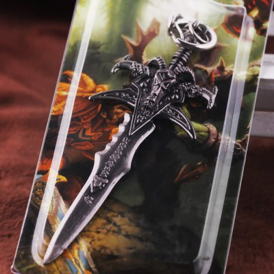 Keyring Weapon Model Pendant Decoration Sword Style Alloy Key Chain
