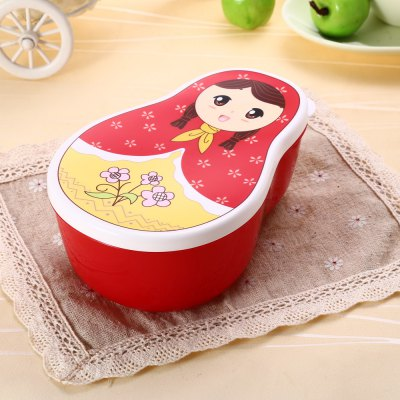 4PCS Tumbler Shape PP Lunch Box Fresh Food Container