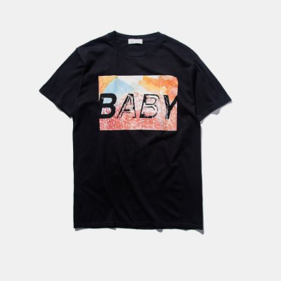 Unisex Short Sleeve BABY Letter Printing Casual Cotton T-Shirt