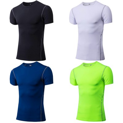 Yuerlian Men Quick-drying Exercising Compression T-shirt 02023 clutch bell double gears 19t 24t for rc hsp 1 10th 4wd on road off road car truck silver