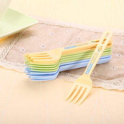 12PCS Colorful PP Fork