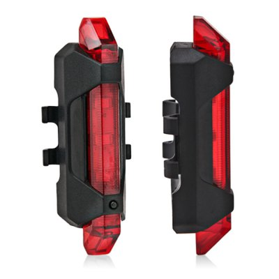 Water Resistant USB Rechargeable 15 Lumen LED Bike Tail Light