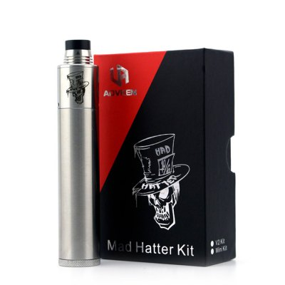 Original ADVKEN Mad Hatter Mini KitStarter Kits<br>Original ADVKEN Mad Hatter Mini Kit<br><br>Atomizer Type: Rebuildable Drippers<br>Battery Form Factor: 18650<br>Battery Quantity: 1pc ( not included )<br>Brand: ADVKEN<br>Coil Quantity: Dual coil,Single coil,Triple coil<br>Connection Threading of Atomizer: 510<br>Material: Stainless Steel<br>Mod Type: Mechanical Mod<br>Model: Mad Hatter Mini<br>Package Contents: 1 x Mad Hatter Mini Atomizer, 1 x Mad Hatter Mini Battery Mod, 1 x Cleaning Cloth, 1 x Accessory Bag<br>Package size (L x W x H): 11.00 x 6.80 x 4.00 cm / 4.33 x 2.68 x 1.57 inches<br>Package weight: 0.2200 kg<br>Product size (L x W x H): 2.20 x 2.20 x 11.60 cm / 0.87 x 0.87 x 4.57 inches<br>Product weight: 0.1350 kg<br>Type: E-Cigarette Starter Kit