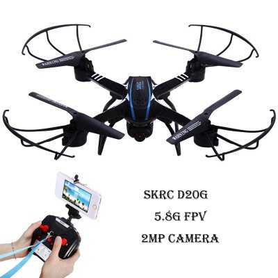 SKRC D20G 5.8G FPV 2 Mega CAM 2.4G 4 Channel 6-axis Gyro Quadcopter One Key Automatic Return RTF