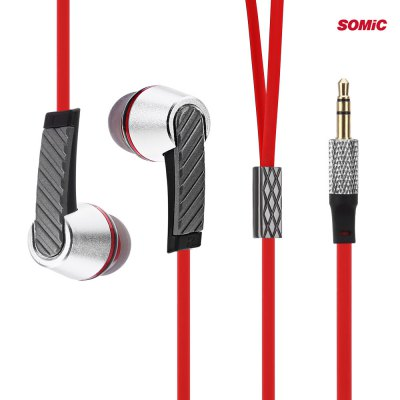 Somic L3 Portable Rich Bass Music In-ear Earphones Flat Cable