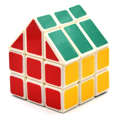 DECAKER Twist Magic Cube House Shape