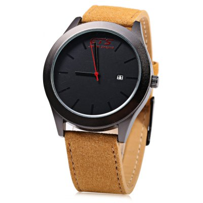 GTS 5523 Male Quartz Watch with Date Function 3ATM