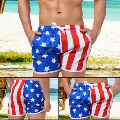 AUSTINBEM Male Beach Short Pants with Draw Cord