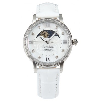 BESTDON BD98978L Moon Phase Female Quartz Watch