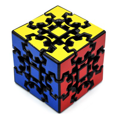 DECAKER 3D Gear Magic Cube 3 x 3 x 3 Colorful Cool Toy - Black Base