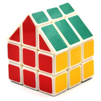 DECAKER Twist Magic Cube House Shape Brain Teaser 3 Layer Educational Toy