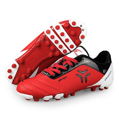 Zhenzu Anti-slip Nail Design Soccer Shoes for ManAthletic Shoes<br>Zhenzu Anti-slip Nail Design Soccer Shoes for Man<br><br>Closure Type: Lace-Up<br>Color: Blue,Green,Red<br>Features: Anti-slip, Lightweight, Durable, Breathable<br>Gender: Men<br>Package Contents: 1 x Pair of Zhenzu Sneakers<br>Package size: 40.00 x 25.00 x 10.00 cm / 15.75 x 9.84 x 3.94 inches<br>Package weight: 0.9300 kg<br>Product weight: 0.8000 kg<br>Size: 40,41,42,43,44<br>Sole Material: Rubber