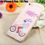 Diamond Style Protective Case for iPhone 6 Plus / 6S Plus Ultra-thin PC Hard Mobile Shell with Pattern Design