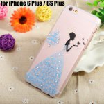 Diamond Style Protective Back Case for iPhone 6 Plus / 6S Plus Ultra-thin PC Hard Mobile Shell with Pattern Design