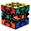 DECAKER 3D Gear Magic Cube 3 x 3 x 3 Colorful Cool Toy - Black Base for sale