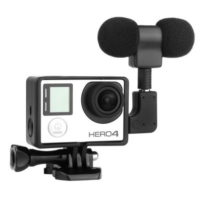 External Microphone for GoPro Hero 4 Action Sports Camera