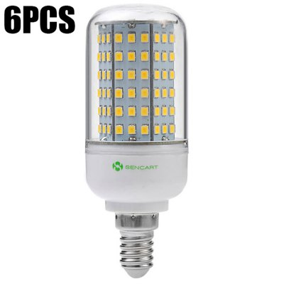6PCS Sencart 126 x SMD 2835 E14 14W 1350LM LED Corn Light
