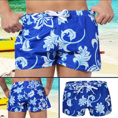 AUSTINBEM Male Short Beach Pants with Draw Cord