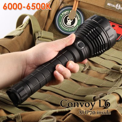 Convoy L6 6000-6500K LED Camping Flashlight (Black)