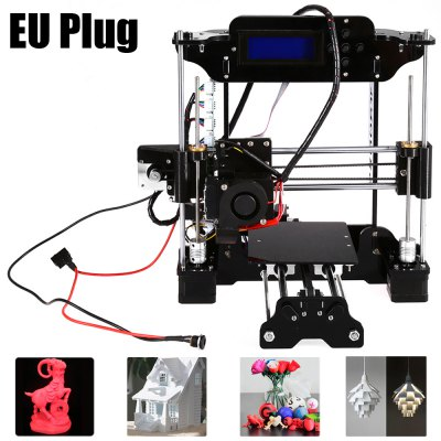 Tronxy 3D Printer DIY Kit3D Printers, 3D Printer Kits<br>Tronxy 3D Printer DIY Kit<br><br> Working environment: : 10 - 30Centigrade<br>Brand: Tronxy<br>Engraving Area: 130 x 100mm<br>File format: STL, OBJ, G-code<br>Frame material: Acrylic plate<br>Host computer software: Cura,Repetier-Host<br>Layer thickness: 0.1-0.3mm<br>LCD Screen: Yes<br>Material diameter: 1.75mm<br>Memory card offline print: SD card<br>Nozzle diameter: 0.3mm<br>Nozzle quantity: Single<br>Package size: 34.70 x 23.00 x 15.00 cm / 13.66 x 9.06 x 5.91 inches<br>Package weight: 4.7500 kg<br>Packing Contents: 1 x Tronxy High Accuracy 3D Printer DIY Kit, 1 x 8G Memory Card, 1 x USB Cable, 1 x Hex Wrench, 1 x Screwdriver, 2 x 5m PLA Supplies (Random Color), 1 x 0.3mm Nozzle, 1 x 0.4mm Nozzle, 1 x 0.5mm Nozzl<br>Packing Type: unassembled packing<br>Platform board: Aluminum Base<br>Print speed: 100mm/s<br>Product size: 33.70 x 30.50 x 32.00 cm / 13.27 x 12.01 x 12.6 inches<br>Product weight: 4.0000 kg<br>Supporting material: Wood, ABS, Luminescent, Nylon PVA, PLA, PP<br>XY-axis positioning accuracy: 0.012mm<br>Z-axis positioning accuracy: 0.004mm