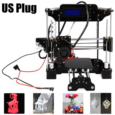 Tronxy 3D Printer DIY Kit3D Printers, 3D Printer Kits<br>Tronxy 3D Printer DIY Kit<br><br> Working environment: : 10 - 30Centigrade<br>Brand: Tronxy<br>Engraving Area: 130 x 100mm<br>File format: STL, OBJ, G-code<br>Frame material: Acrylic plate<br>Host computer software: Cura,Repetier-Host<br>Layer thickness: 0.1-0.3mm<br>LCD Screen: Yes<br>Material diameter: 1.75mm<br>Memory card offline print: SD card<br>Nozzle diameter: 0.3mm<br>Nozzle quantity: Single<br>Package size: 34.70 x 23.00 x 15.00 cm / 13.66 x 9.06 x 5.91 inches<br>Package weight: 4.8000 kg<br>Packing Contents: 1 x Tronxy High Accuracy 3D Printer DIY Kit, 1 x 8G Memory Card, 1 x USB Cable, 1 x Hex Wrench, 1 x Screwdriver, 2 x 5m PLA Supplies (Random Color), 1 x 0.3mm Nozzle, 1 x 0.4mm Nozzle, 1 x 0.5mm Nozzl<br>Packing Type: unassembled packing<br>Platform board: Aluminum Base<br>Print speed: 100mm/s<br>Product size: 33.70 x 30.50 x 32.00 cm / 13.27 x 12.01 x 12.6 inches<br>Product weight: 4.0000 kg<br>Supporting material: Wood, ABS, Luminescent, Nylon PVA, PLA, PP<br>XY-axis positioning accuracy: 0.012mm<br>Z-axis positioning accuracy: 0.004mm
