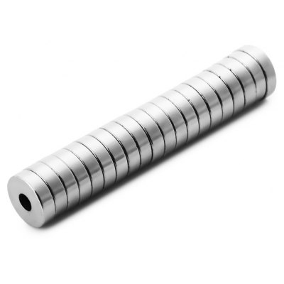 20Pcs 10 x 10 x 3mm N38 Strong NdFeB Round Magnet with Hole