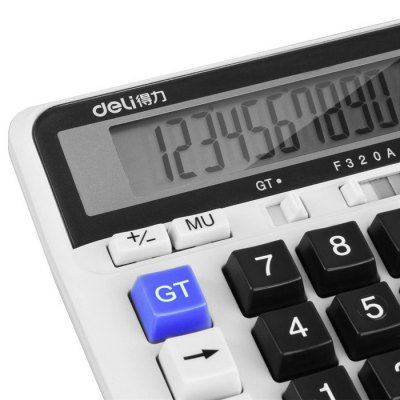 Deli 2135 Solar Powered Desktop Calculator от GearBest.com INT
