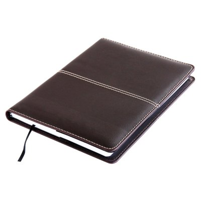 Deli 25K Business Notebook for Office with Faux Leather Cover