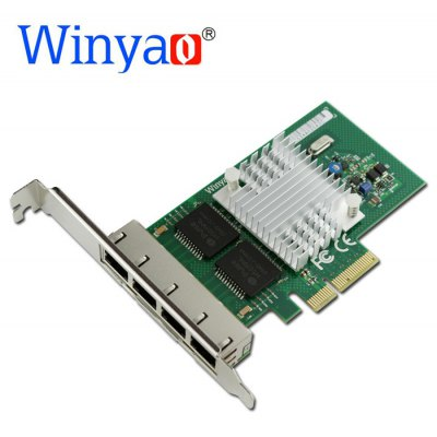 Winyao WY580 - T4 10 / 100 / 1000Mbps Ethernet Network Card