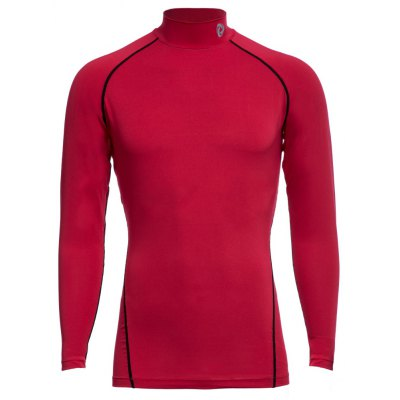 Tesla Male Stand Collar Slim Fitness Long Sleeves