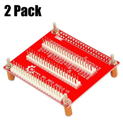 2 Pack Keyestudio Exclusive One-to-three GPIO Expansion Board V3 Compatible with Raspberry Pi 3rd Generation B+