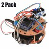 2 Pack RT0004 Intelligent Car Kit Remote Control Ranging Vehicle Smart Robot Little Turtle for Arduino